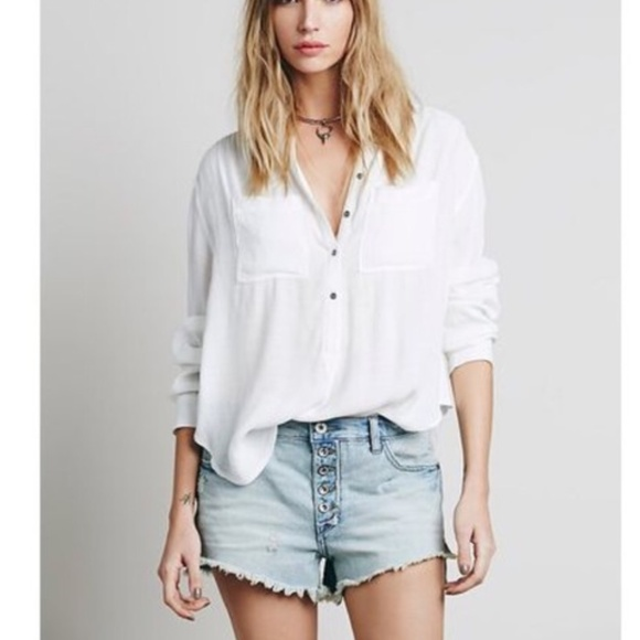 Free People Pants - Free People Runaway Slouch Cut Off jean shorts